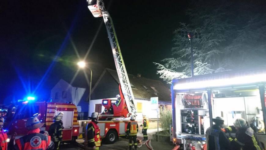 Brennt Wohnhaus