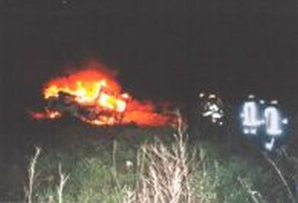 Brand eines Wohnwagens
